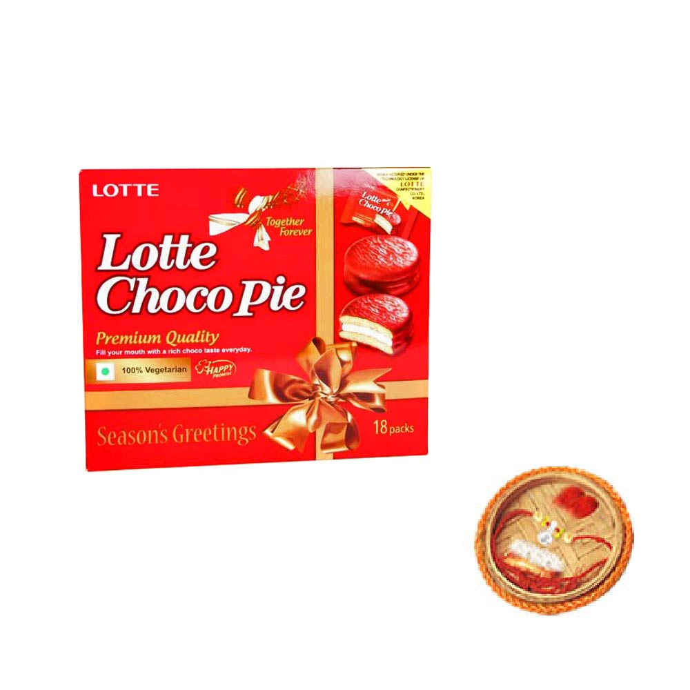 Choco Pie Chocolates - 18 pieces With Free Rakhi