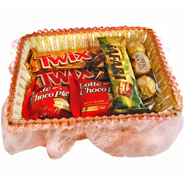 Chocolate Hampers-Elegant Chocolate Basket