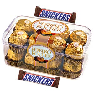 Imported Brands-Ferrero Rocher and Snickers with Teddy