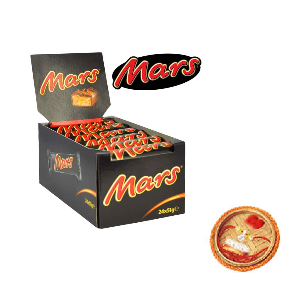 Mars Chocolates - 24 pieces Box With Free Rakhi