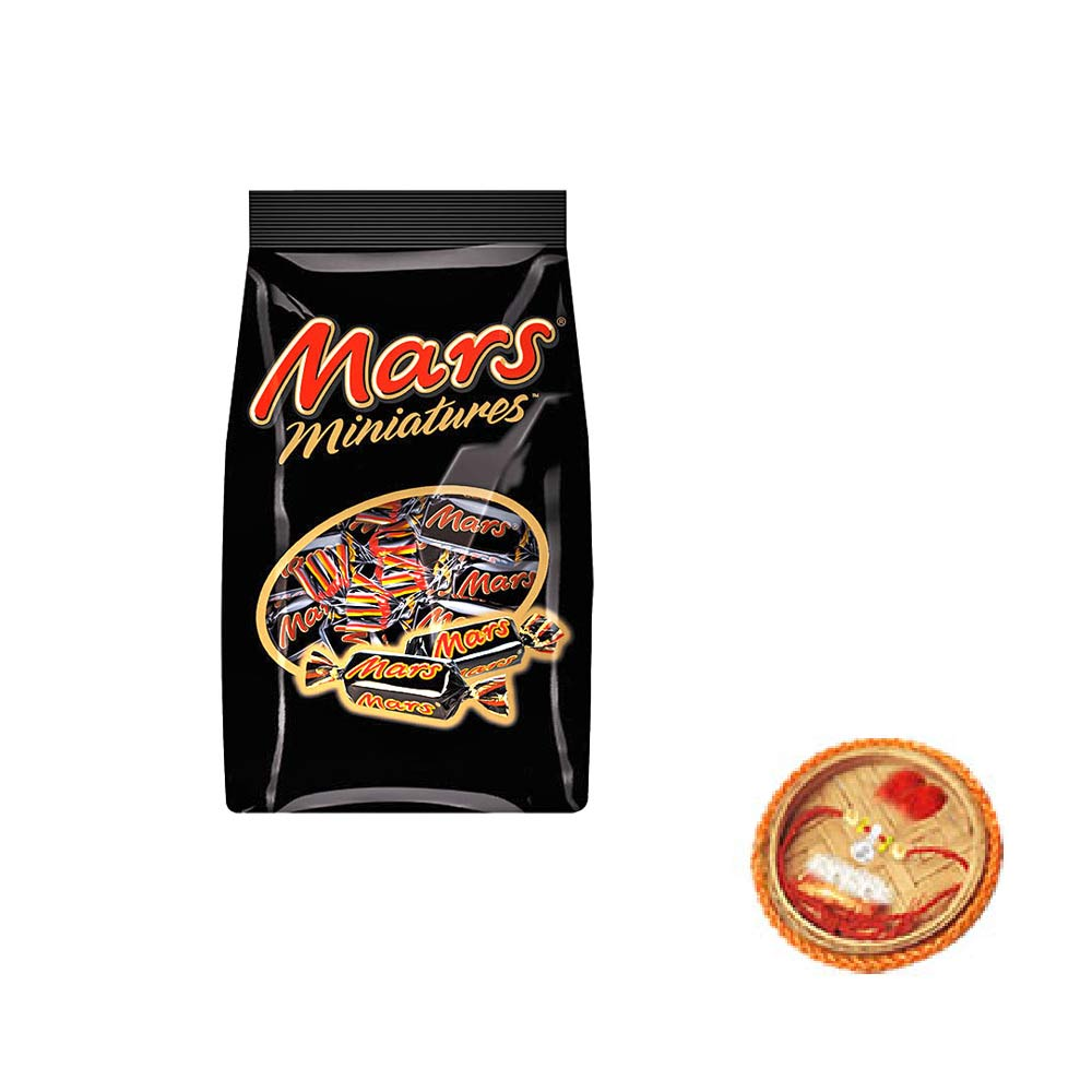 Mars Miniatures Chocolates With Free Rakhi