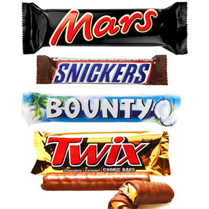 Chocolate Hampers-Mars, Snickers, Bounty & Twix Chocolates