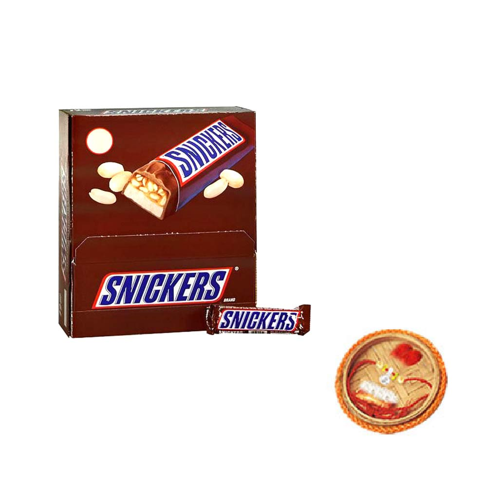 Snickers Box - 24 pieces With Free Rakhi