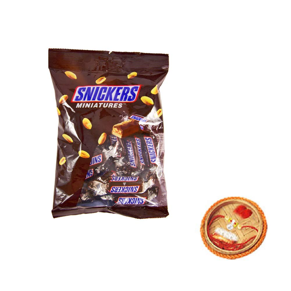 Snickers Miniatures With Free Rakhi
