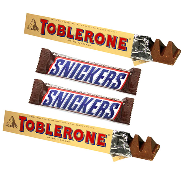 Toblerone and Snickers with Teddy
