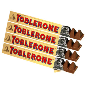 Imported Brands-Toblerone Chocolates - 4 Bars