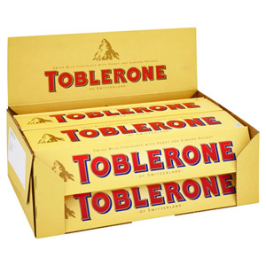 Chocolates & Cookies-Toblerone Chocolates - Pack of 20 With Free Rakhi