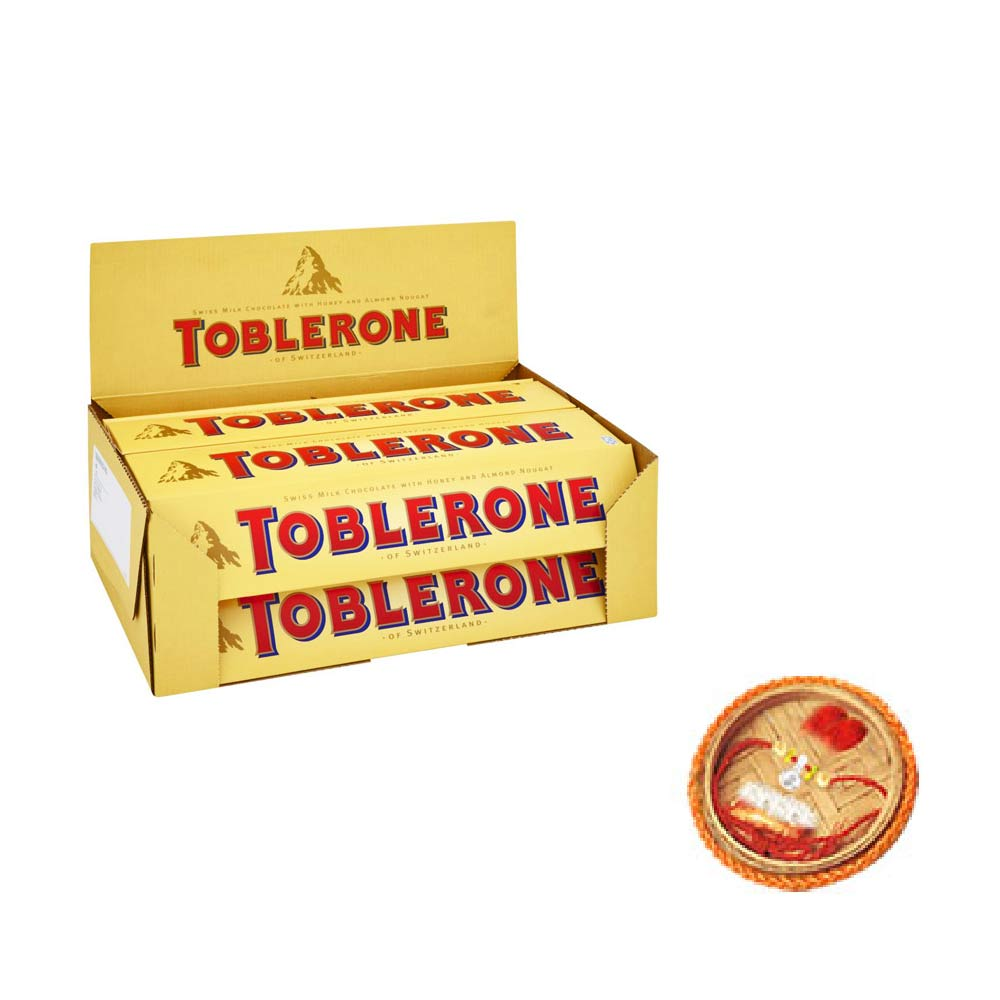 Toblerone Chocolates - Pack of 20 With Free Rakhi
