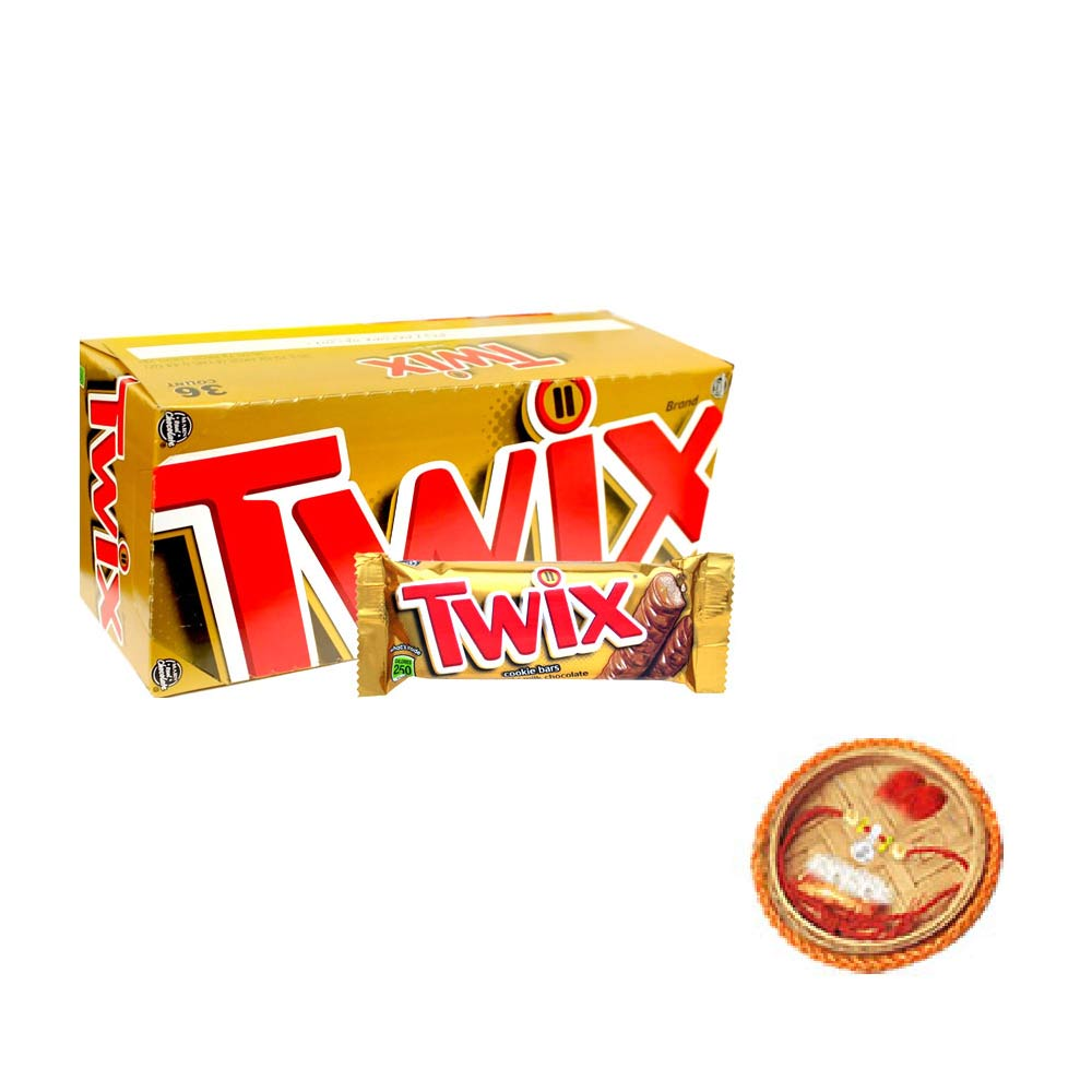 Twix Chocolates- 25 pieces Box With Free Rakhi