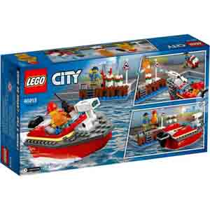 Games & Playsets-Lego City Dock Side Fire
