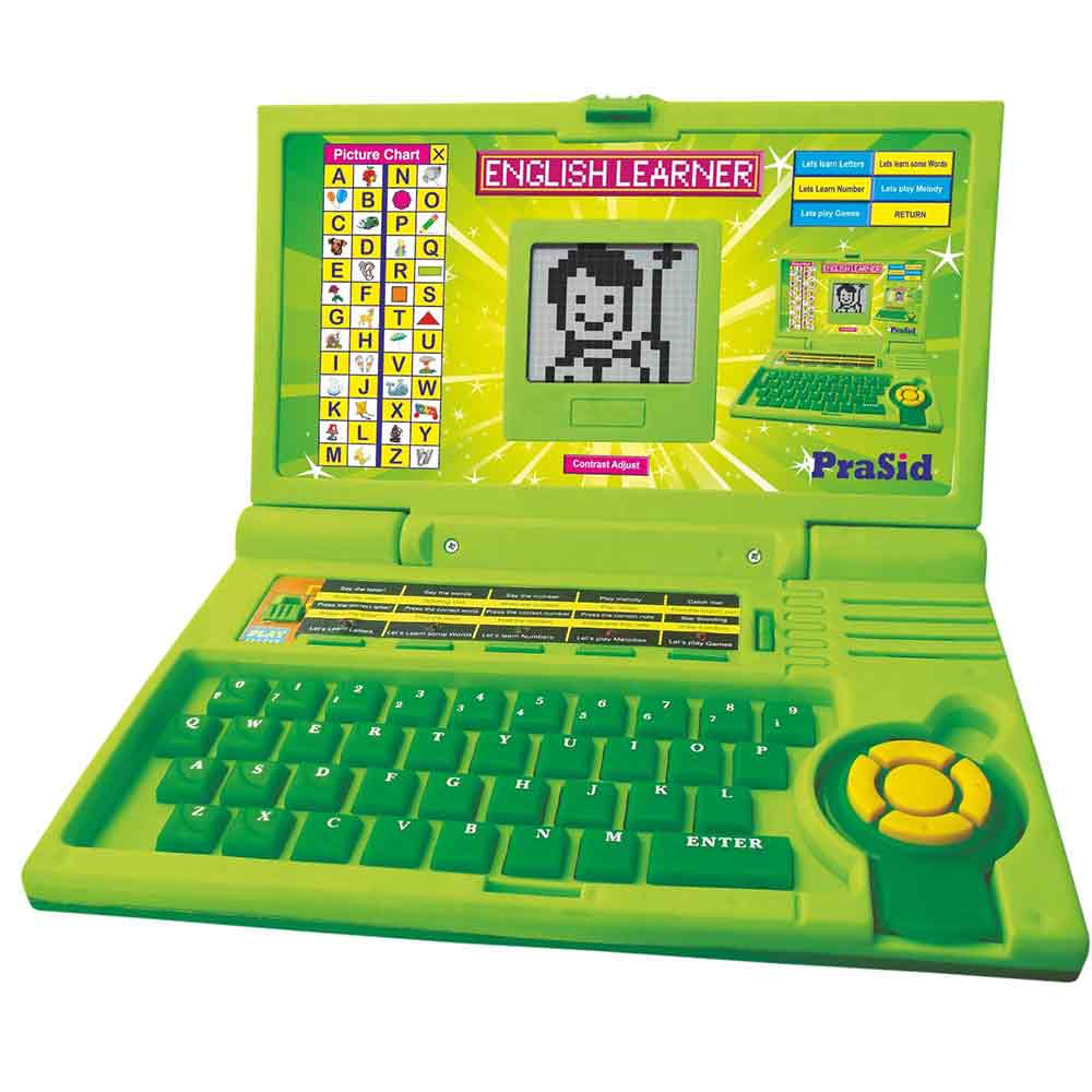 PraSid Kids English Learner Computer Toy Educational Laptop Green