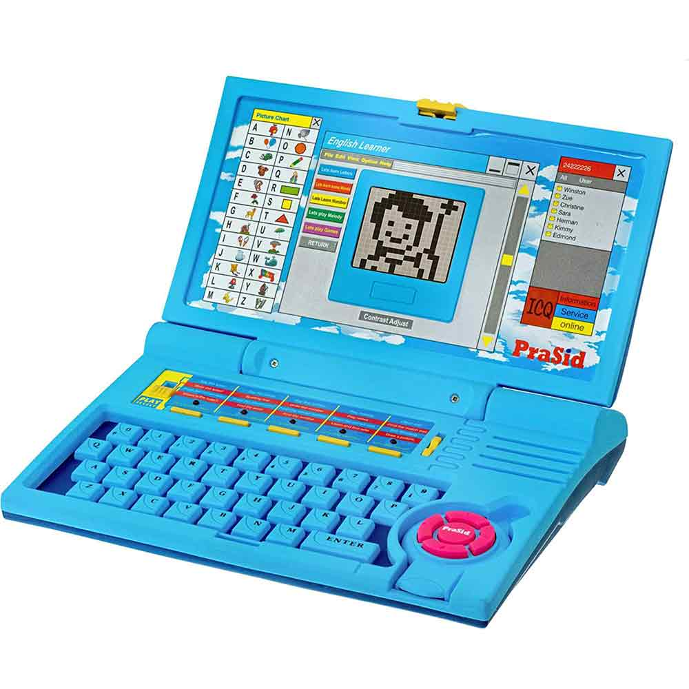 PraSid Kids English Learner Computer Toy Educational Laptop BlueBabyBlue