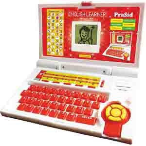 Educational-PraSid Kids English Learner Computer Toy Educational Laptop Red