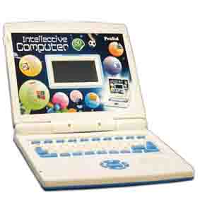 Educational-PraSid Kids Intellective Computer Toy Educational Laptop Blue