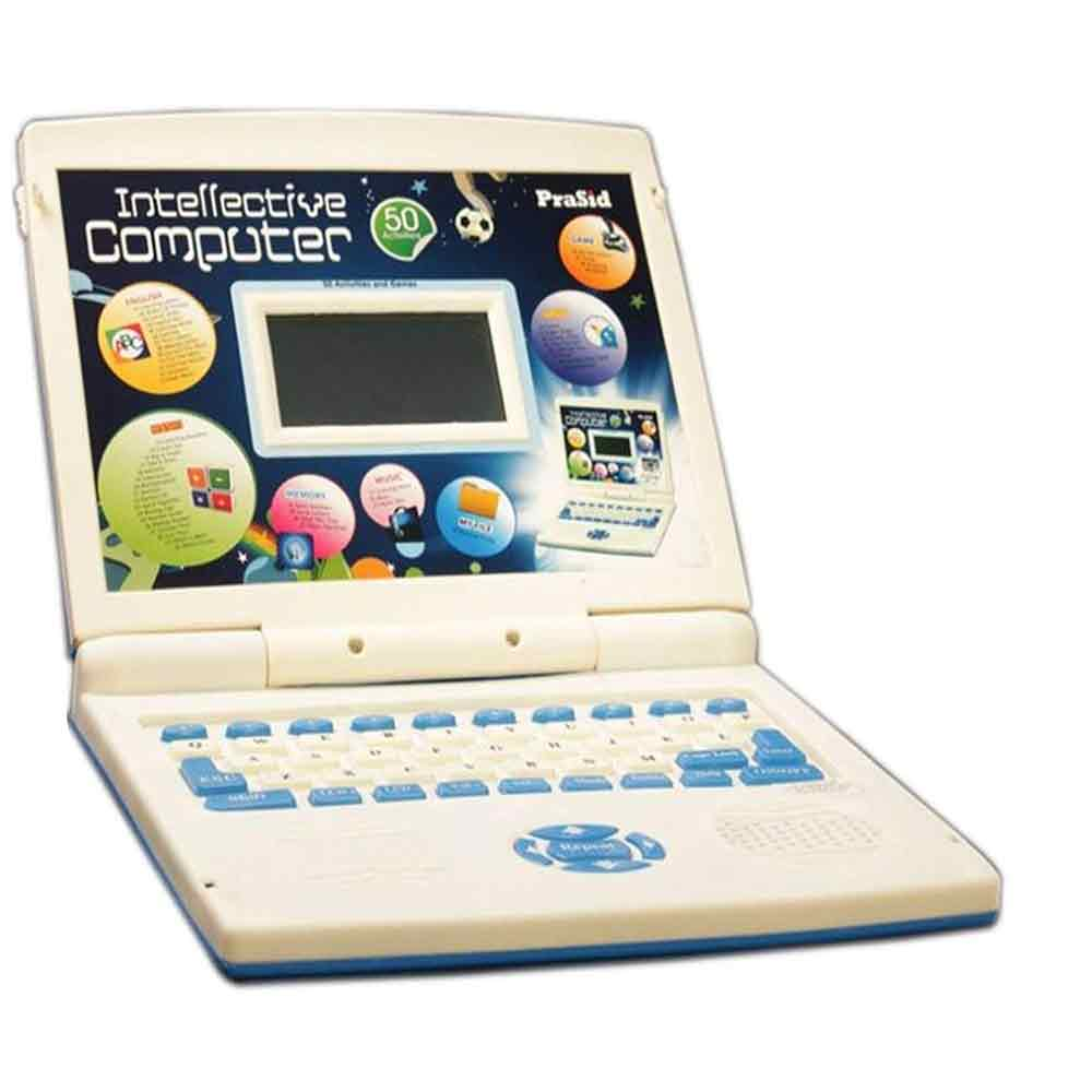 PraSid Kids Intellective Computer Toy Educational Laptop Blue