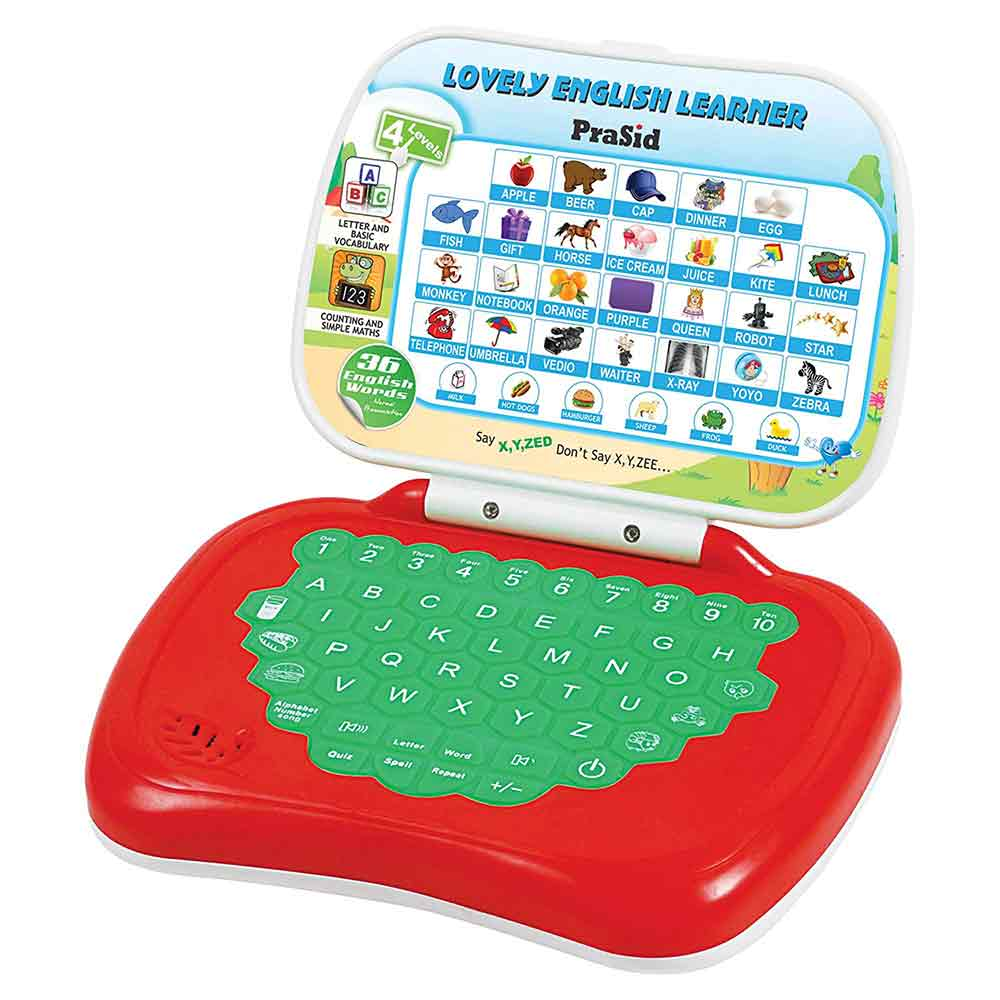 PraSid Lovely English Learner Kids Laptop 17.7 cm