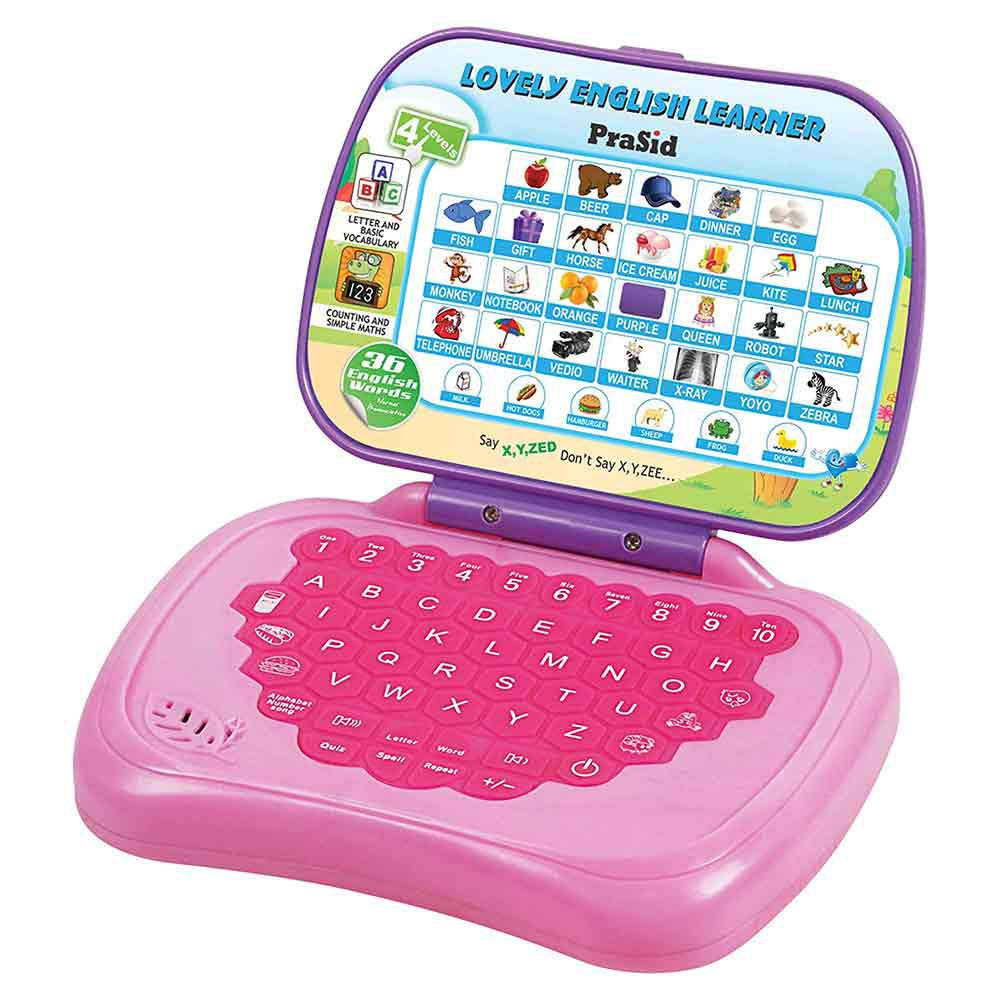 PraSid Lovely English Learner Kids Laptop 17.78 cm