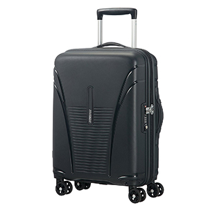Trolleys & Strollers-American Tourister Polypropylene 55 Cms Black Hard Sided Suitcases & Trolley Bags