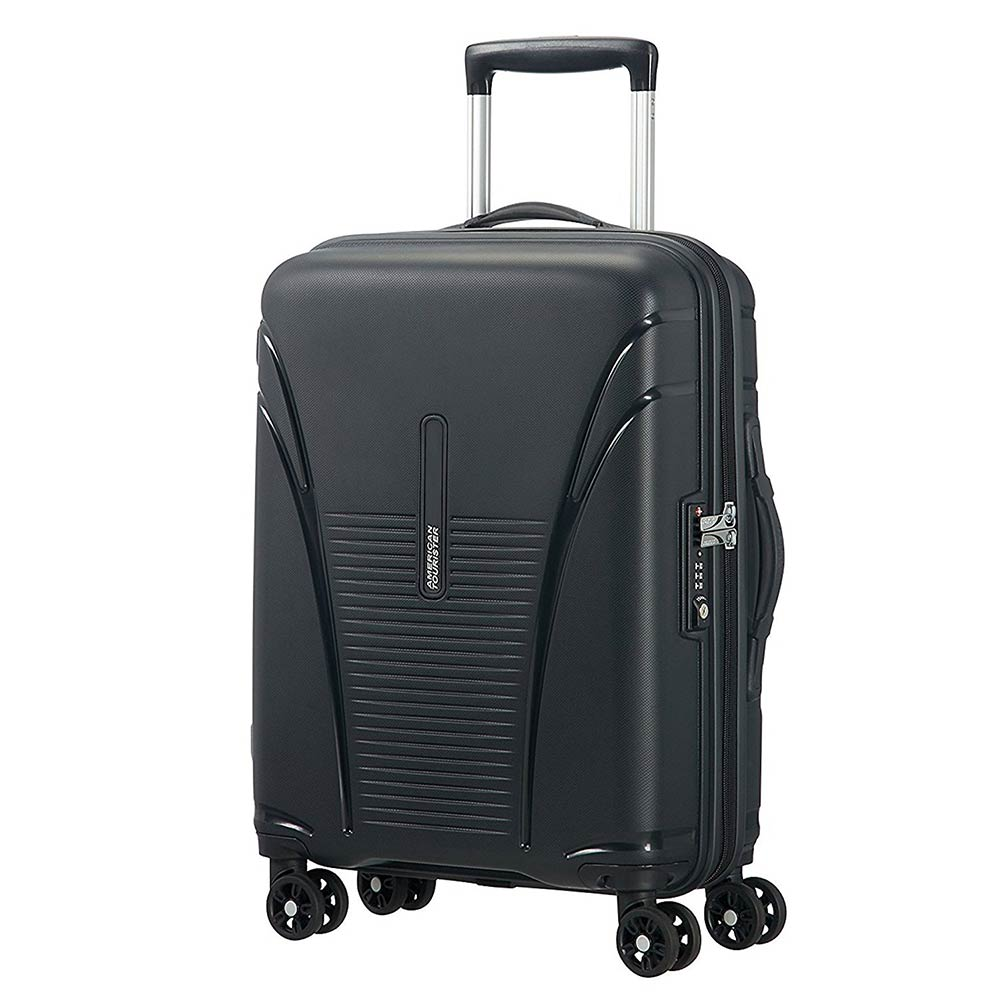 American Tourister Polypropylene 55 Cms Black Hard Sided Suitcases & Trolley Bags