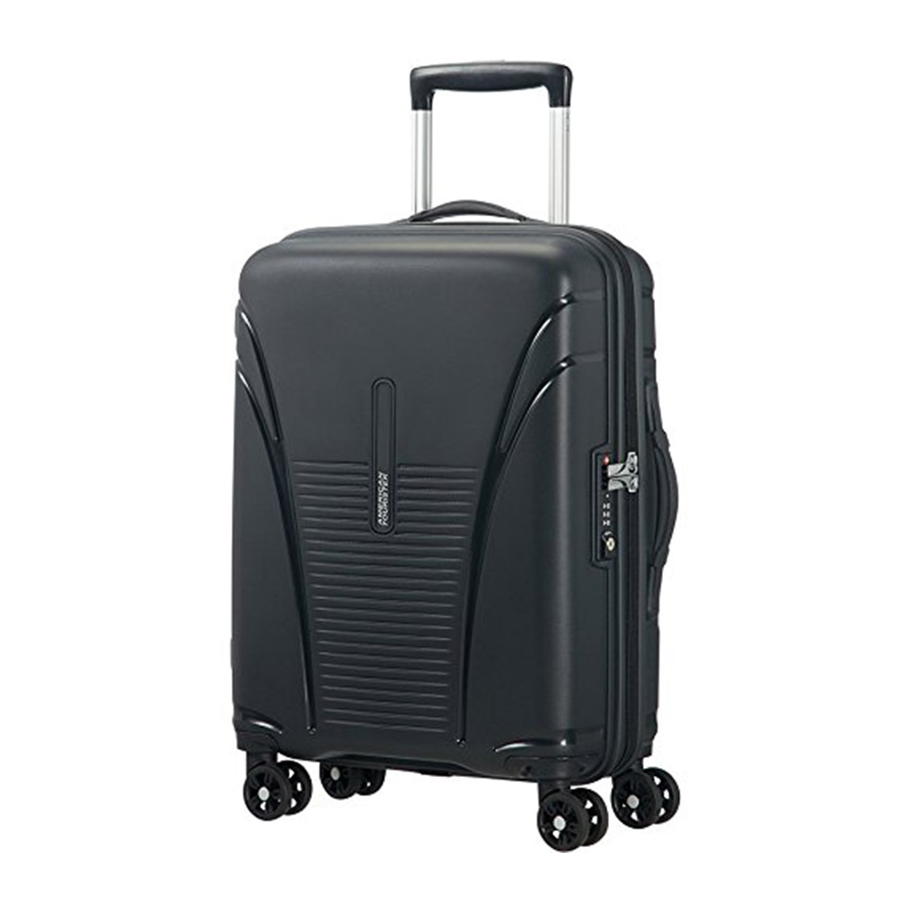 American Tourister Skytracer Polycarbonate 65 Black Spinner Suitcase