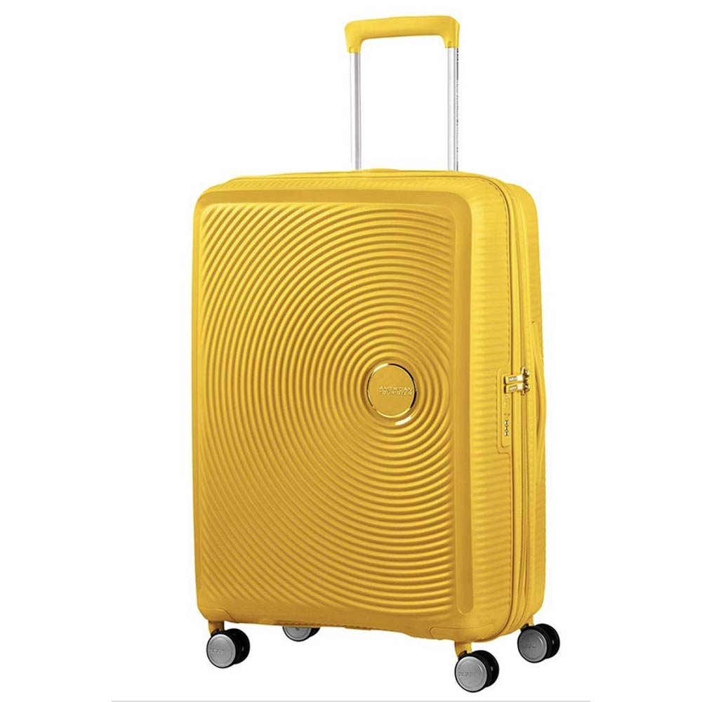 Trolleys & Strollers-American Tourister Hard Luggage Curio 55cm (Cabin Size)