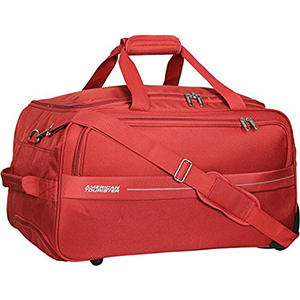 Duffle Bags-American Tourister Marco Polyester 64 cms Rust Travel Duffle