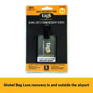 Travel Accessories-Tag8 Airport Tracer Code Enabled Bag Security Tag