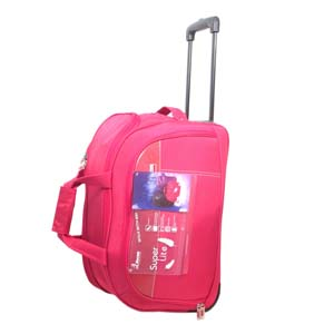 Encore Wheels Duffel 20 inch Red With Free Single Mask