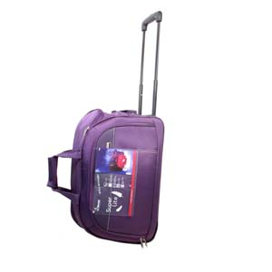 Encore Wheels Duffel 24 inch Purple With Free Single Mask