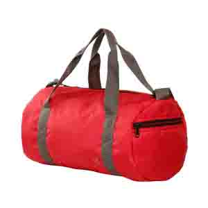 Duffle Bags-Red Checkered light weight travel cumgym bag