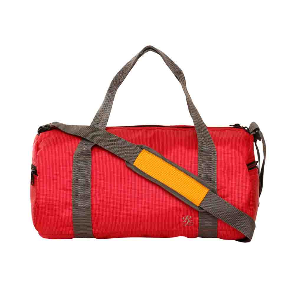 Red Checkered light weight travel cumgym bag