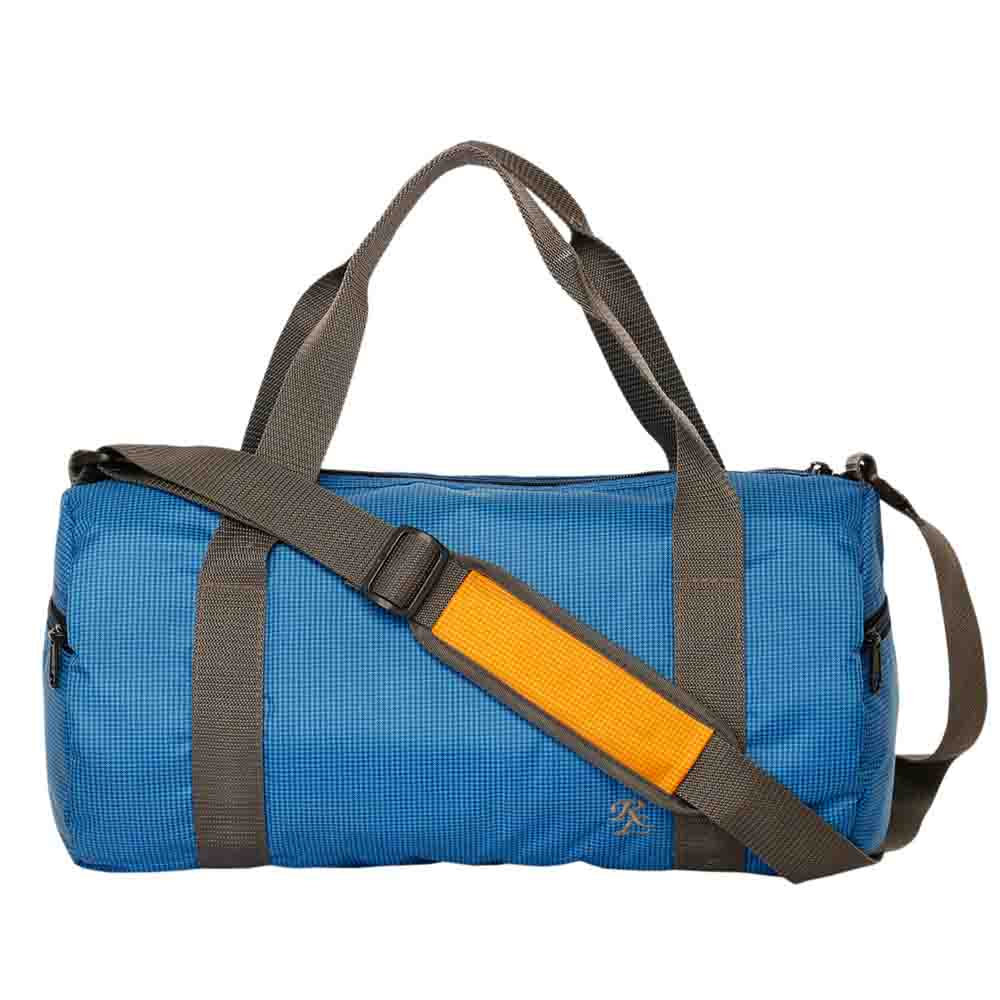 Blue Checkered light weight travel cumgym bag