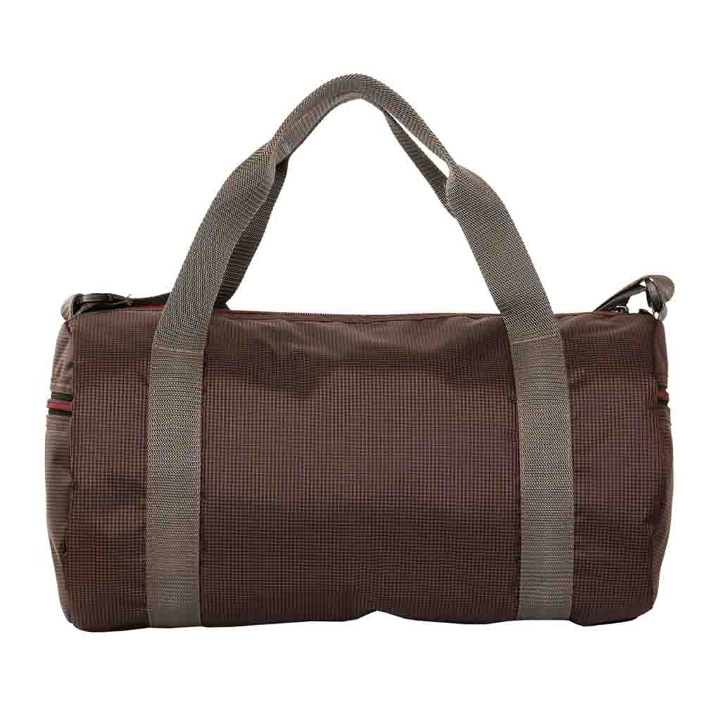 Brown Checkered light weight travel cumgym bag