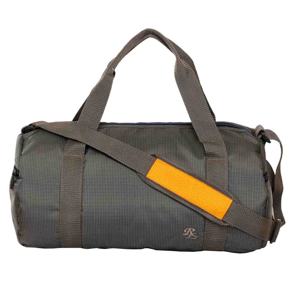 Grey Checkered light weight travel cumgym bag