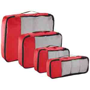 Travel Accessories-Red Packing cubes set of 4