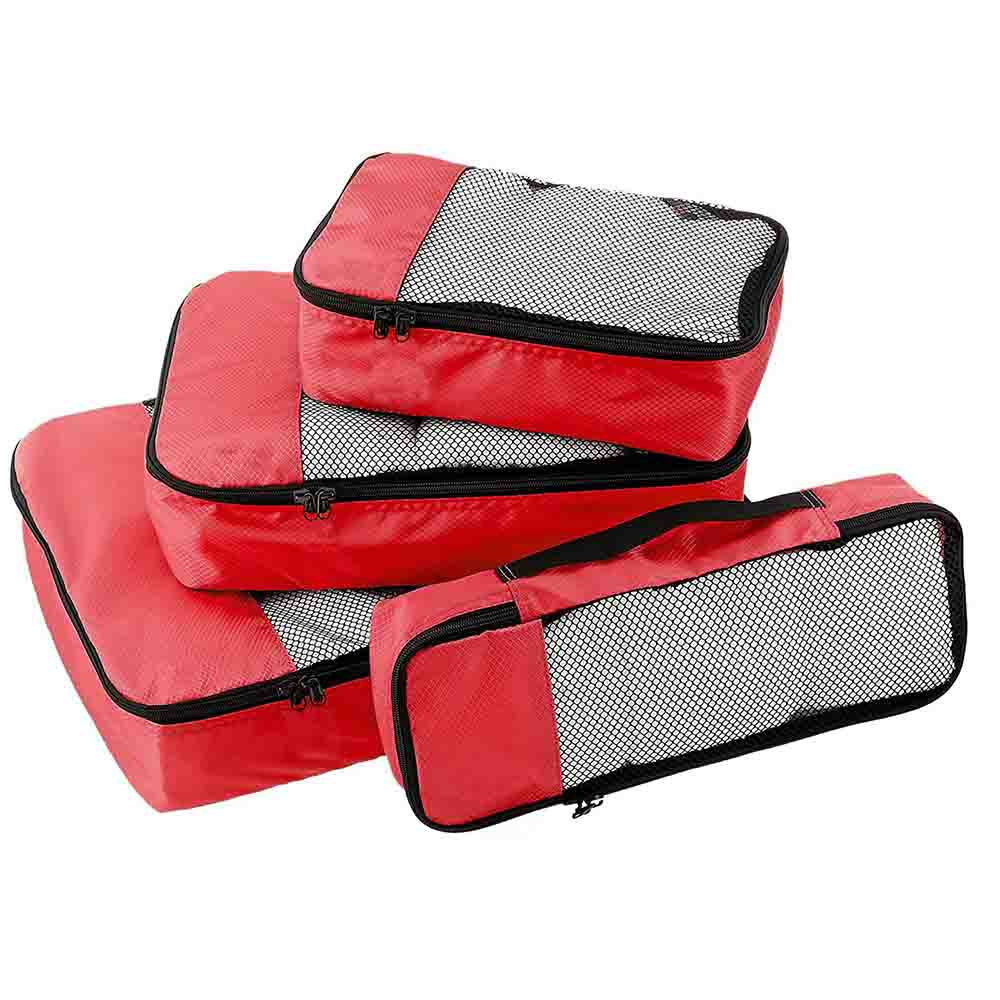 Red Packing cubes set of 4
