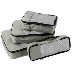 Travel Accessories-Grey Packing cubes set of 4