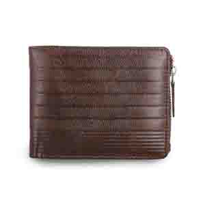 Gents Wallet-Brown Vertis two tone drymill leather mens wallet