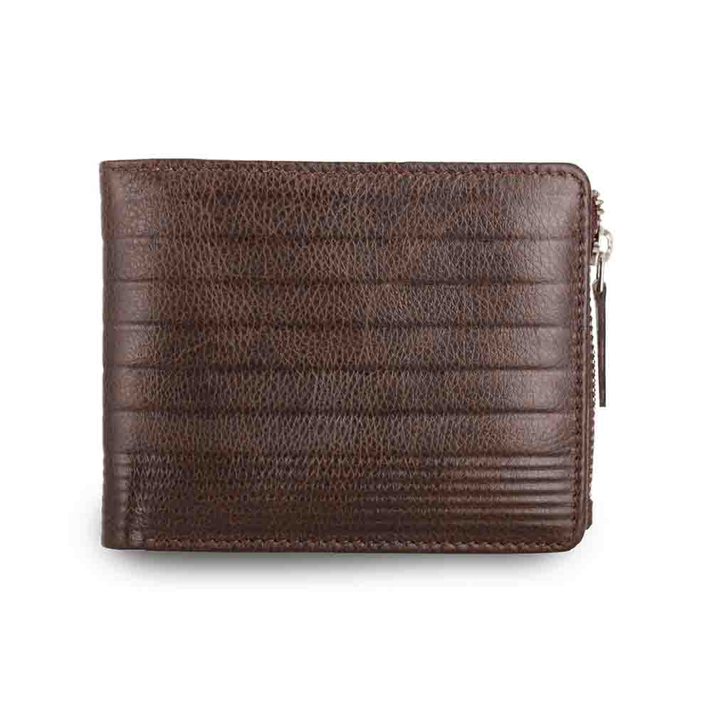 Brown Vertis two tone drymill leather mens wallet