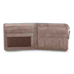 Gents Wallet-Grey Vertis two tone drymill leather mens wallet