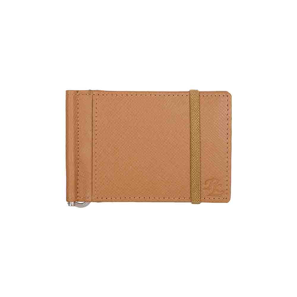 Iris elastic Leather money clip wallet