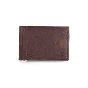 Gents Wallet-Brown Magnetic RFID leather Money Clip Mens Wallet