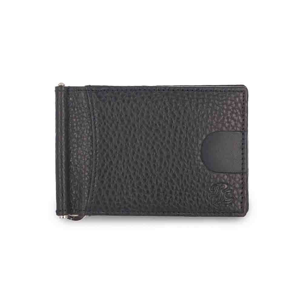Grey Magnetic RFID leather Money Clip Mens Wallet