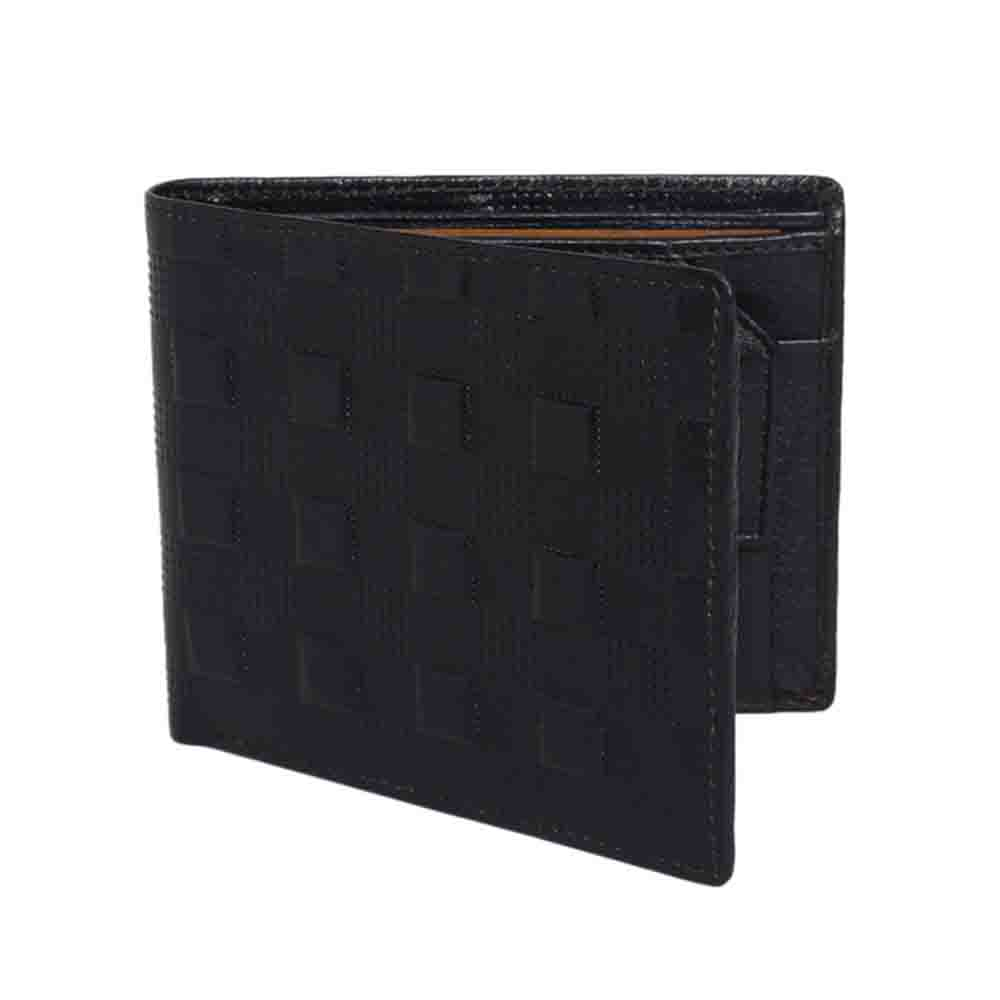 Checkered Leather Mens Wallet