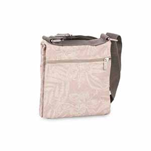 Sling Bags-Twin side waxedcanvas floral print travel pouch/sling bag