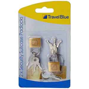 Travel Accessories-Travel Blue 2 x Security Suitcase Padlock (20mm)