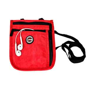 Travel Accessories-Viaggi Travel Neck Pouch - Red