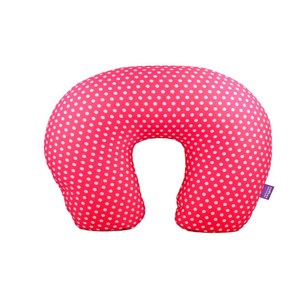 Viaggi Microbead U Shape Travel Neck Pillow - Mini Dot Pink