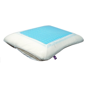 Travel Accessories-Viaggi Memory Foam Sleeping Pillow With Cooling Gel - White