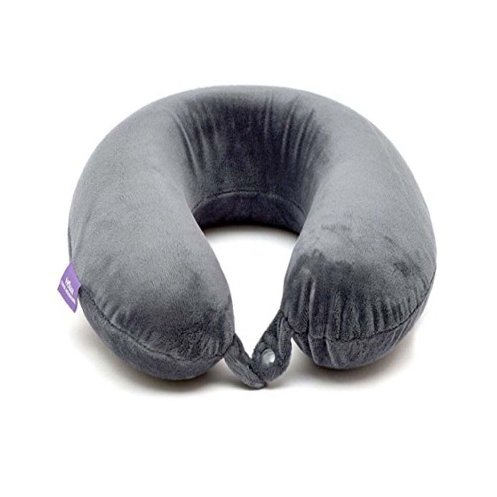 Viaggi U Shape Memory Foam Cervical Travel Neck Pillow - Grey